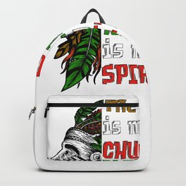 Earth Is My Church Nature Is My Spirituality Gift   Native American Indian Backpack