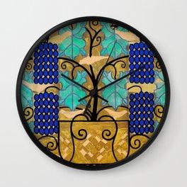 "Koloman (Kolo) Moser ""Vine tendrils, design for the altar frieze at the Steinhof Church in Vienna"" Wall Clock"