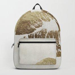 Hollywood Kiss Gold Backpack