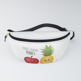 You're Looking Pine! Apple & Pineapple Couple Fanny Pack