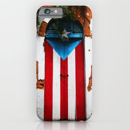 PUERTO RICO FLAG DOOR iPhone Case