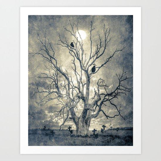 Raven's shelter II  (colour option) Art Print