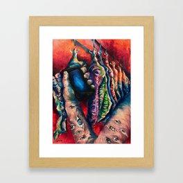 """""""#SCARS"""" Painting Framed Art Print"""