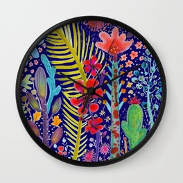 in the migthy jungle Wall Clock