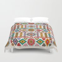southwest Duvet Covers featuring Southwest by Helene Michau