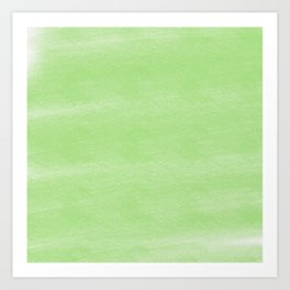 Chalky background - green Art Print