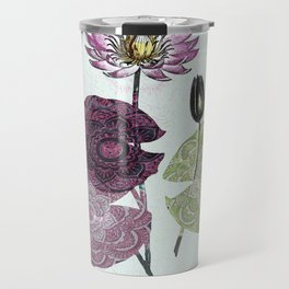 Bowing to the divine in pink Travel Mug