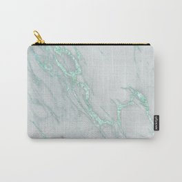 Marble Love Mint Metallic Carry-All Pouch