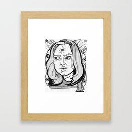 Final Girl: Natalie Simon from Urban Legend Framed Art Print