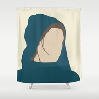 les miserables Shower Curtains featuring Fantine (Workhouse) - Anne Hathaway - Les Miserables by Hrern1313