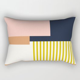 Sol Abstract Geometric Print in Multi Rectangular Pillow