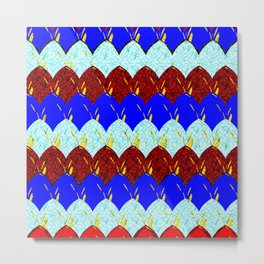 Red White and Blue Scales Metal Print