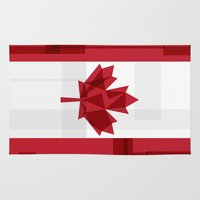 canada Area & Throw Rugs featuring O Canada by Fimbis