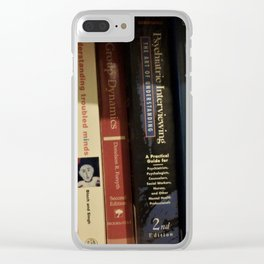 Book case in shadow Clear iPhone Case