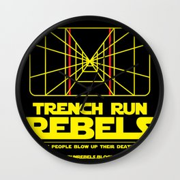 Trench Run Rebels Wall Clock