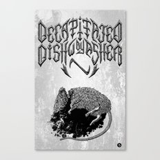 Decapitated by dishwasher I (white) Canvas Print