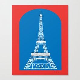 Paris, France - Skyline Illustration by Loose Petals Canvas Print
