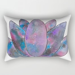 Nebulous Lotus Rectangular Pillow