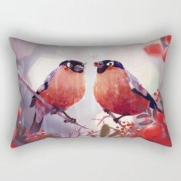 Bullfinch Love Rectangular Pillow