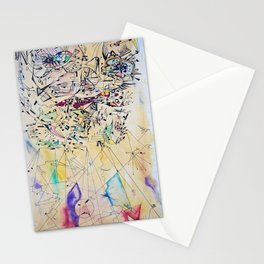 Face in lines Stationery Cards