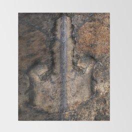 Middle Finger granite quarry reflection Throw Blanket