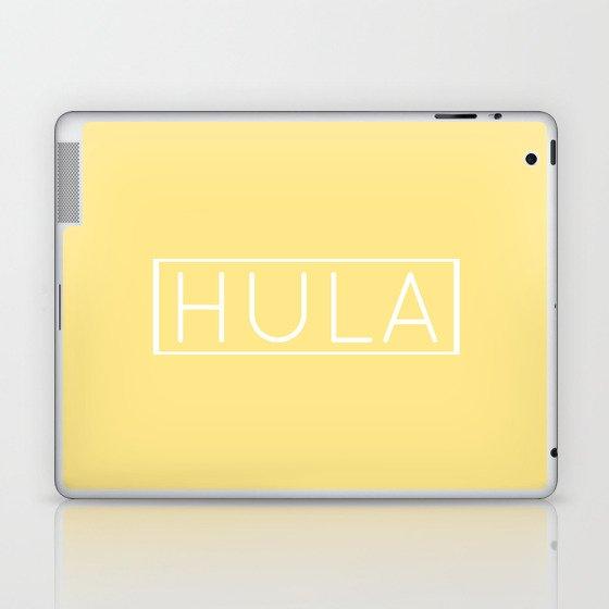 HULA (YELLOW) Laptop & iPad Skin