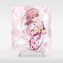 Madoka Kaname - Yukata vers. (edit. 2) Shower Curtain