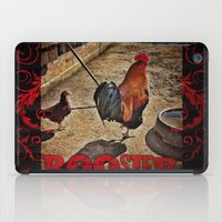 rooster iPad Cases featuring Rooster by Justin Alan Casey