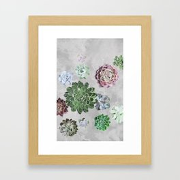 Simple succulents Framed Art Print