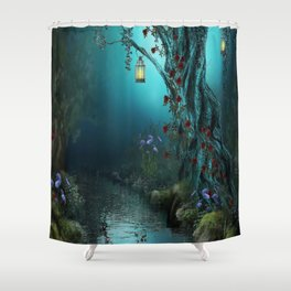 fantasy world Shower Curtain