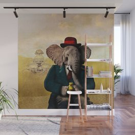 Mr. Preston J. Pachyderm visits the Sphinx Wall Mural