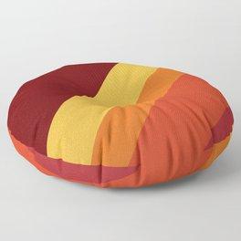 Retro 70s Color Palette II Floor Pillow