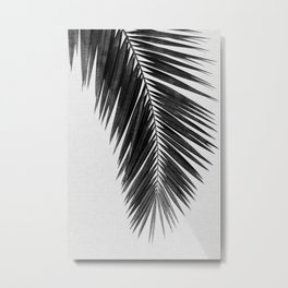 Palm Leaf Black & White I Metal Print