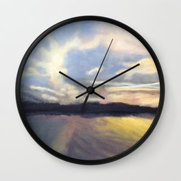 Summer Sunset Over Lake Winnipesaukee in New Hampshire Wall Clock