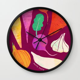 Root Vegetables Wall Clock