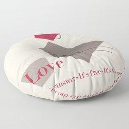 Love: Classic Floor Pillow