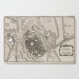 Vintage Map of Dunkirk France (1764) Cutting Board