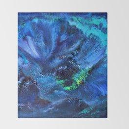 Blue Anemone Throw Blanket