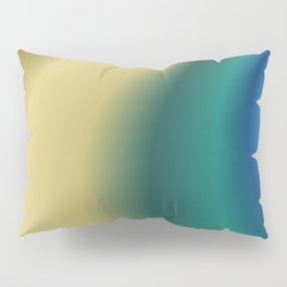 Abstract in Cream and Teal Pillow Sham