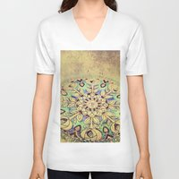 golden V-neck T-shirts featuring Golden by Maggie Green