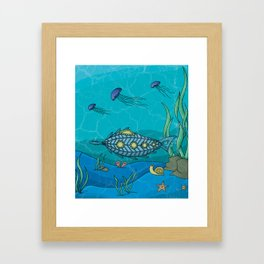 Nautilus under the sea Framed Art Print
