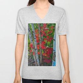 Birch Maple by Teresa Thompson Unisex V-Neck