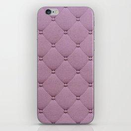 Pastel pink elegant upholstery pattern iPhone Skin