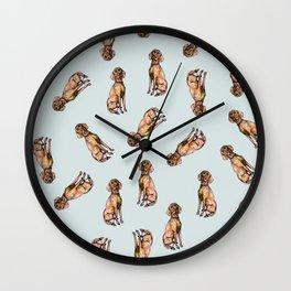 Dog Pattern 1 on Baby Blue Wall Clock