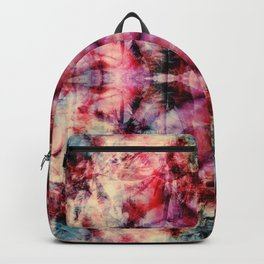 Colorful Abstract Batik Butterfly Rorschach Ink Blot Art Space Galaxy No6 Backpack