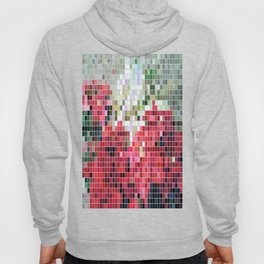 Mixed color Poinsettias 3 Mosaic Hoody