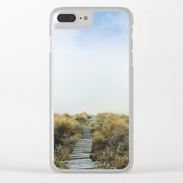New Zealand Cloud Track Clear iPhone Case