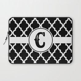 Black Monogram: Letter C Laptop Sleeve