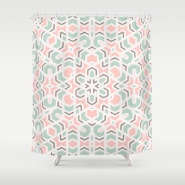 Faithful Kaleidoscope Mandala #kaleidoscope #pattern Shower Curtain