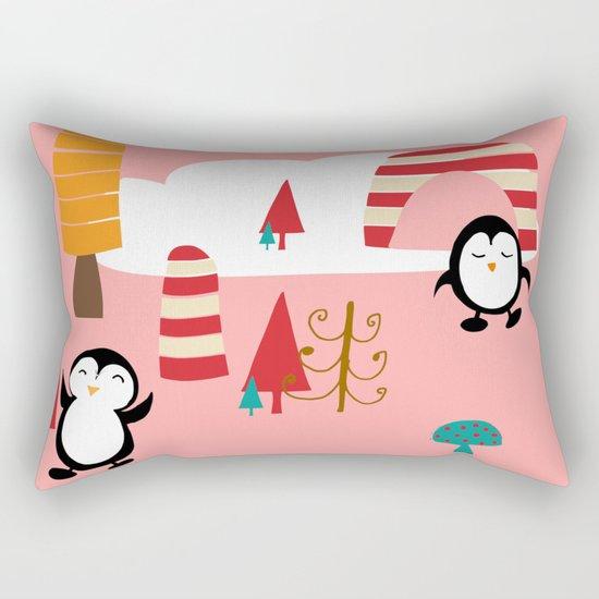Oriana Penguin pink Rectangular Pillow